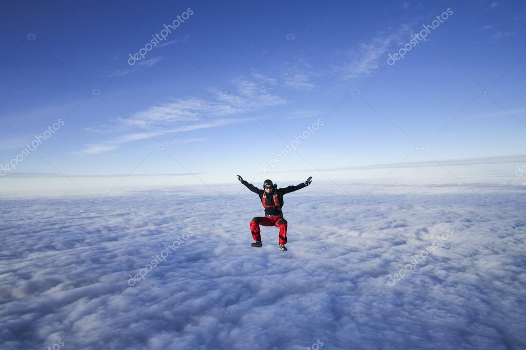 Skydiver in freefall