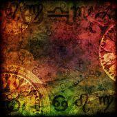 Kouzelná znamení astrologie pozadí
