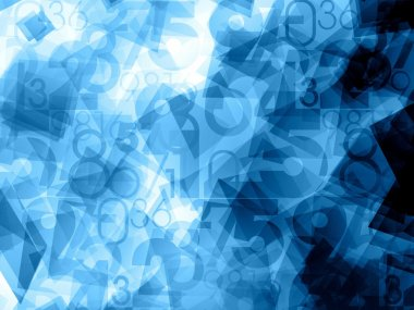 blue dynamic abstract numbers background
