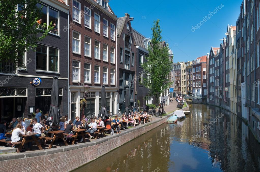 Terrazza Di Amsterdam Foto Editoriale Stock Hansenn