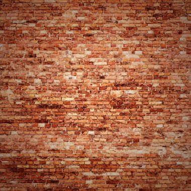 Red brick wall texture background with vignetted corners of interior stock vector