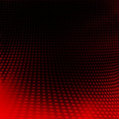 Black background and red abstract texture grid pattern