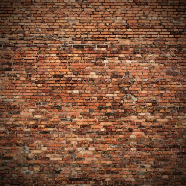 Red brick wall texture grunge background with vignetted corners to interior design stock vector