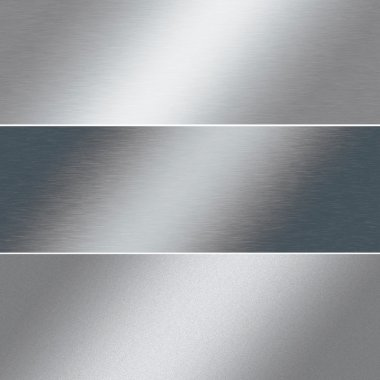 Brushed silver metal background, chrome texture, banner template