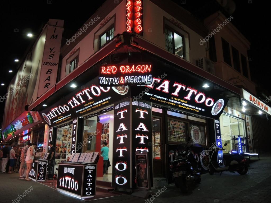 Kusadasi bar street tattoo shop stock photo chrisart8 for Tattoo clothing shop