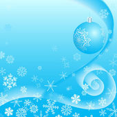 Christmas background with snowflakes and a copyspace.