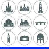 Fotografie European Capitals - Icon Set (Part 5)