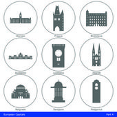 Fényképek European Capitals - Icon Set (Part 4)