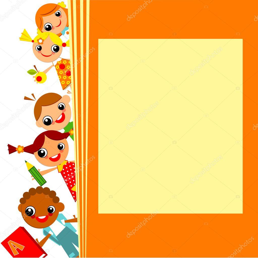 Kids Book Cover Background : School children s background — stock vector usikova