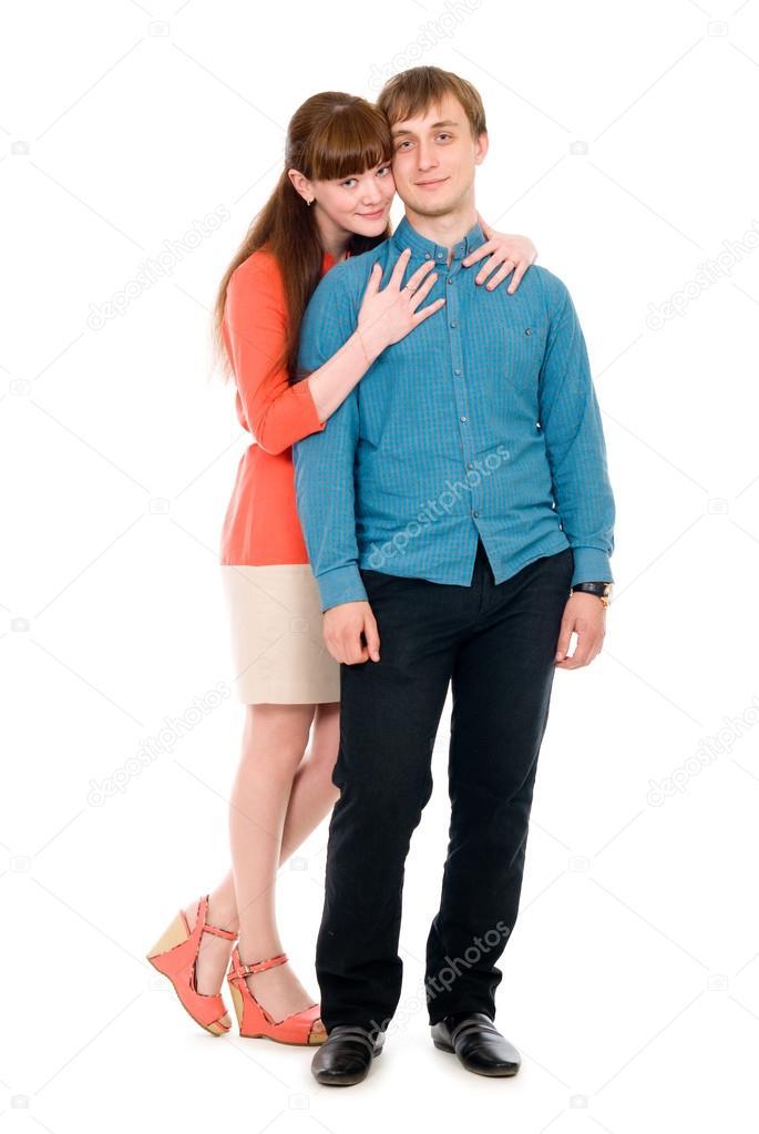 Толстый парень тыркает молодую женщину 2
