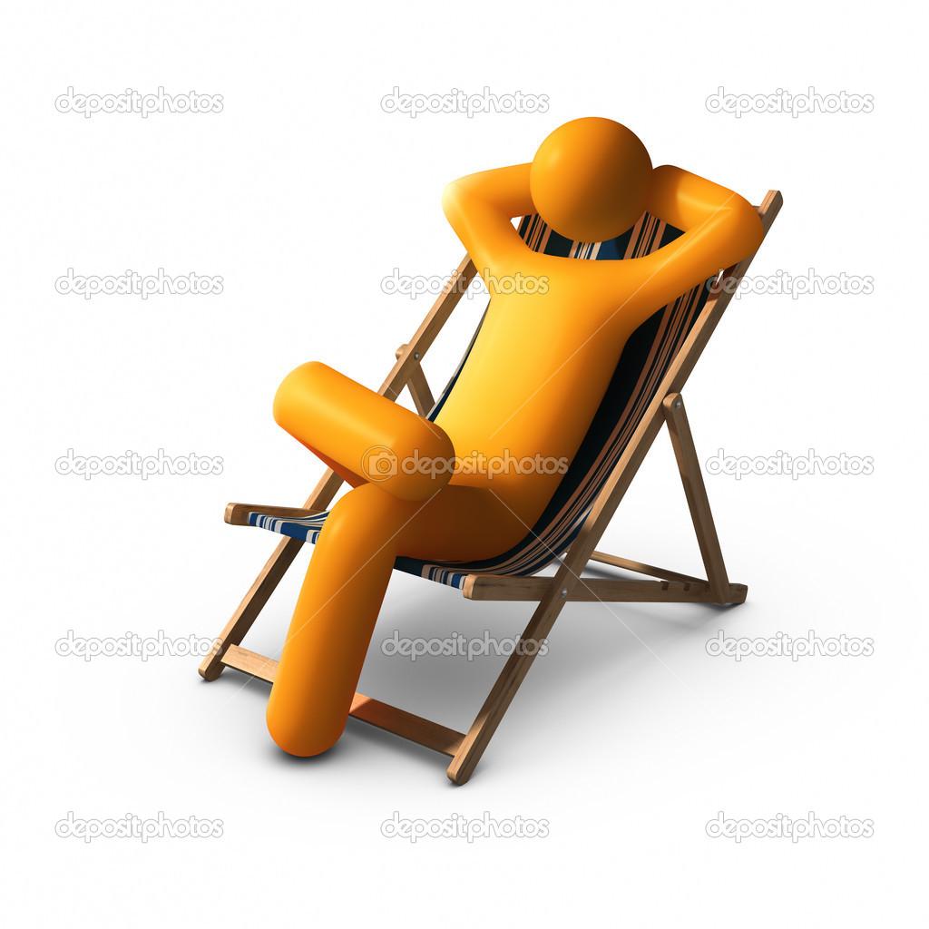 Photographie De Assis Sur LongueProfitant Vacances Chaise — La DEHIYWe9b2