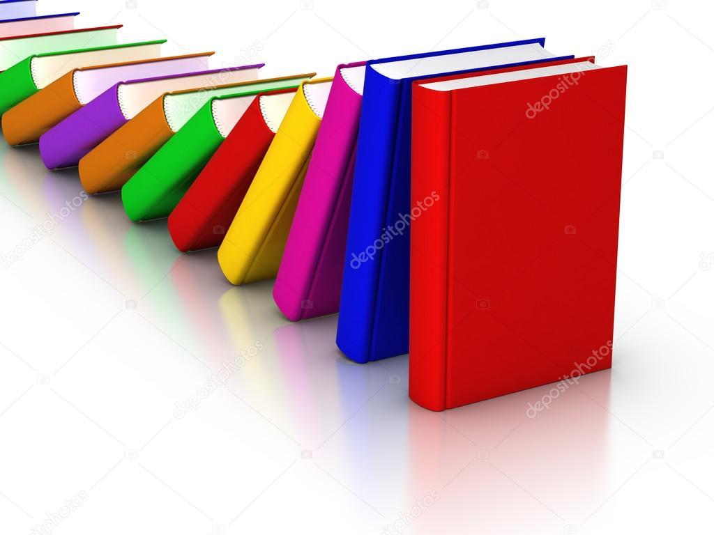 efecto dominó libros coloridos — Foto de stock © ayzek #30230021