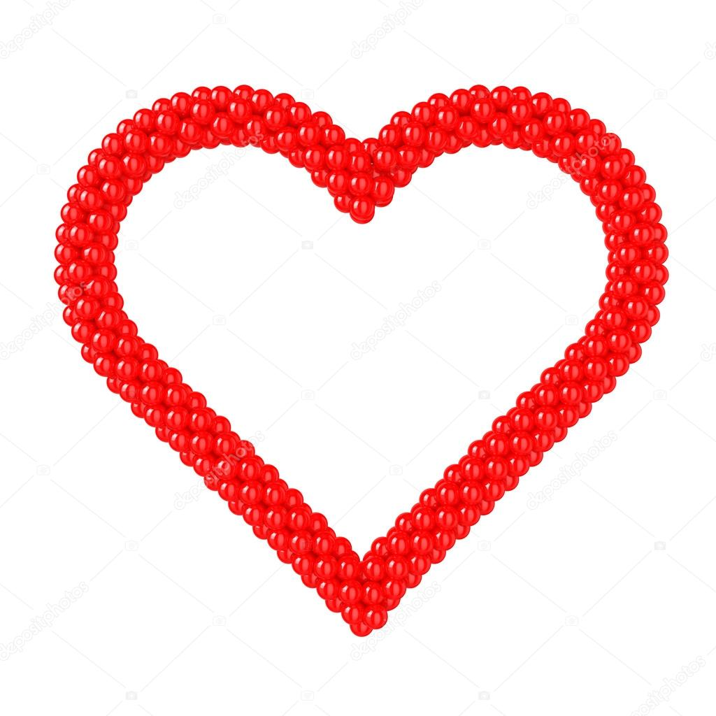 Heart Shape - Frame Balloons — Stock Photo © ayzek #30251803