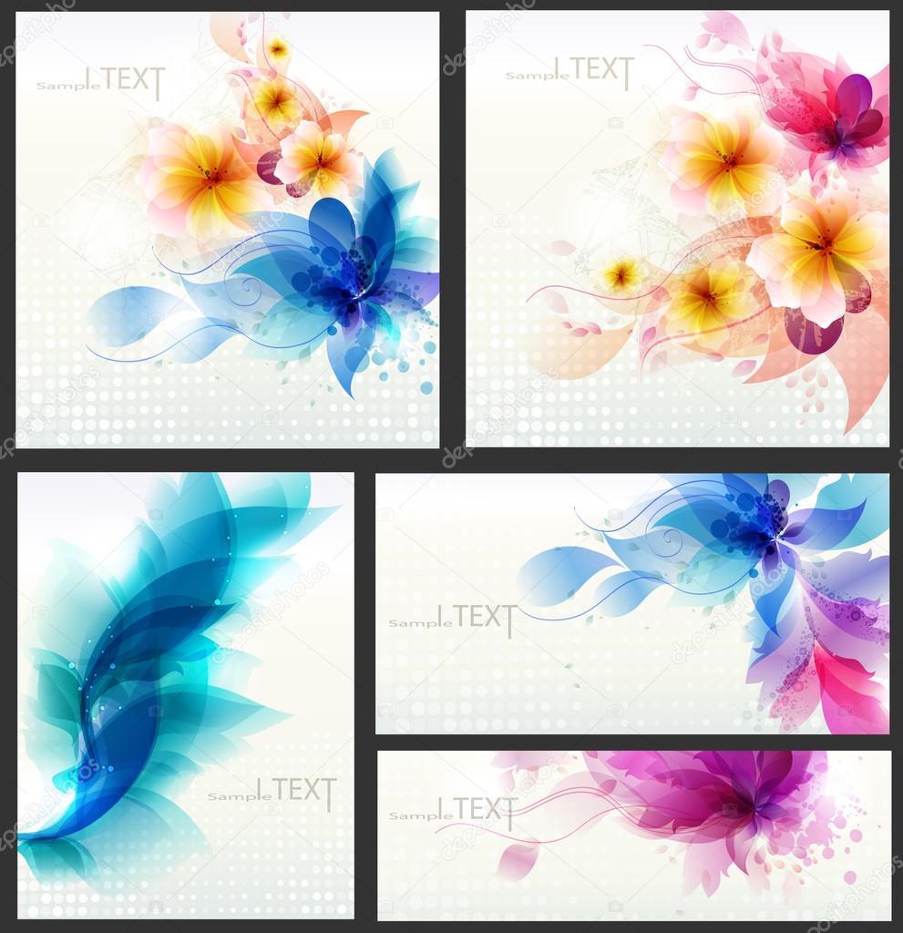Set of design elements . set of templates for business cards.