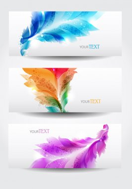 Floral vector background brochure template with floral elements