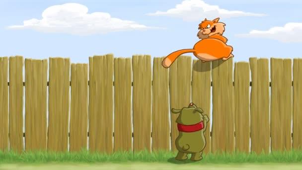kreslený plot
