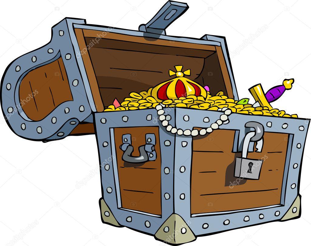 treasure chest u2014 stock vector dedmazay 12693749
