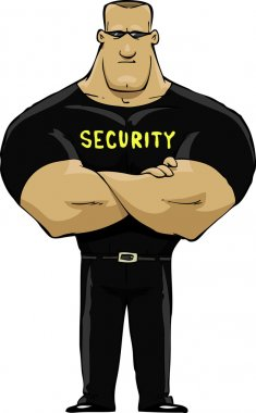Security guard on a white background vector illustration stock vector