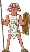 Fotografie alte ägyptische Krieger