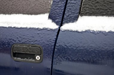 Car window ice