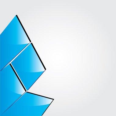 Vector blue abstract brochure design