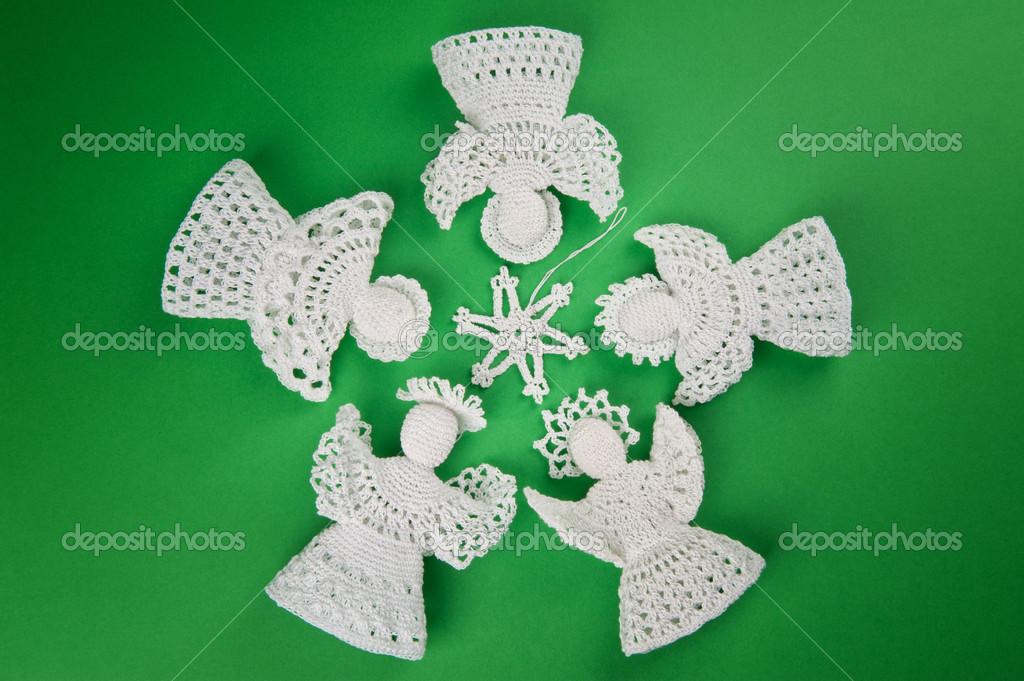 adornos de rbol de navidad hecho a mano u foto de mholka