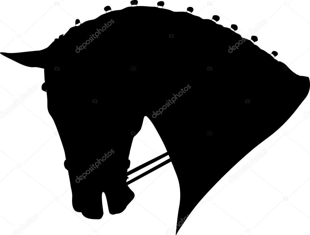 pferde kopf stockvektor anilin 13198207. Black Bedroom Furniture Sets. Home Design Ideas