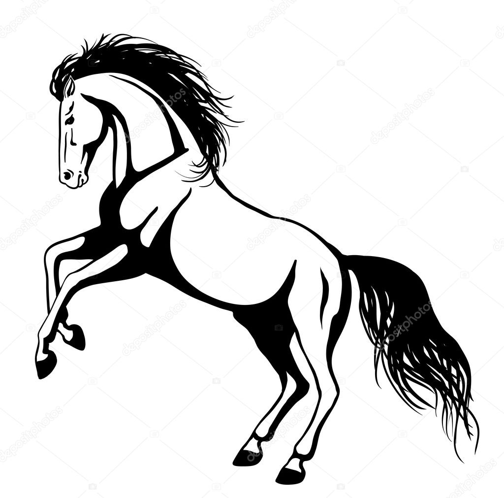 ᐈ Rearing Horse Silhouette Stock Drawings Royalty Free Rearing Horse Images Download On Depositphotos