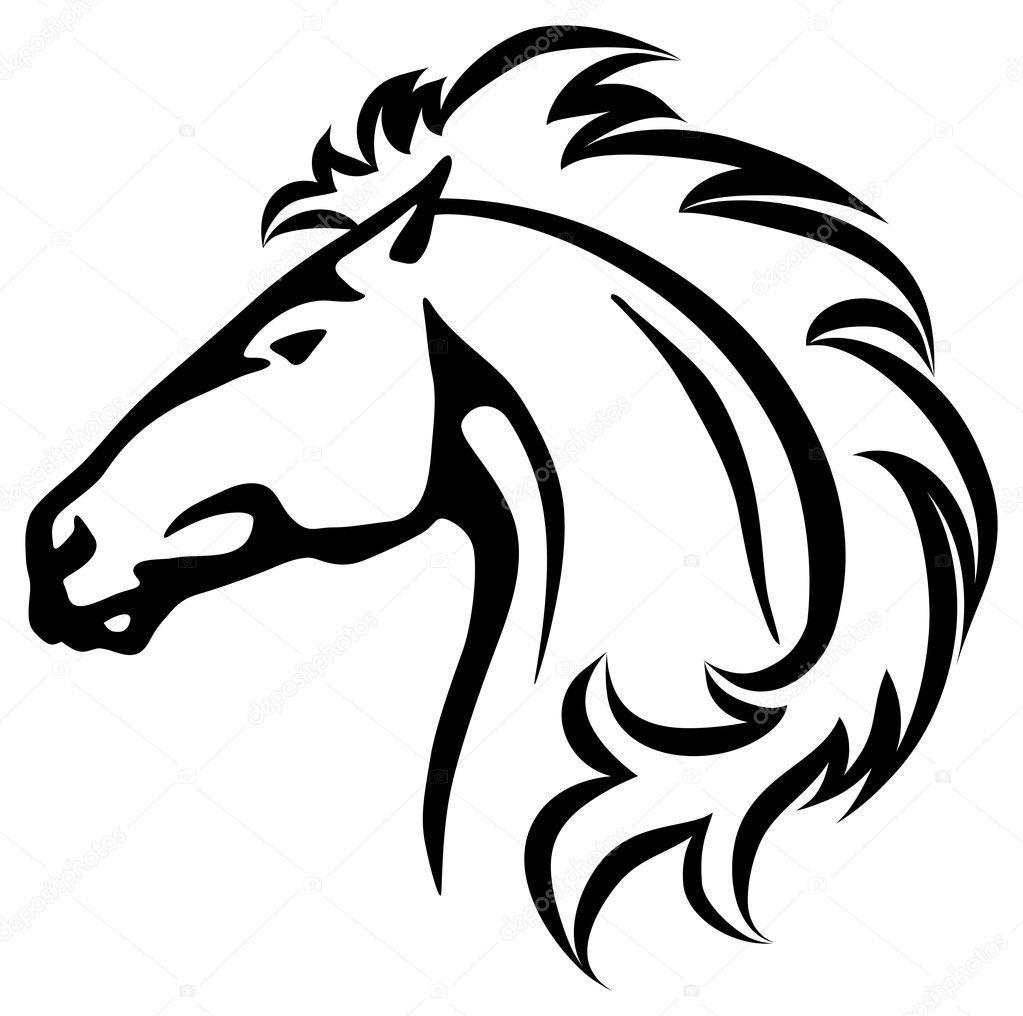wild horse s head stock vector anilin 27788719 rh depositphotos com horse head vector free download horse head vector art
