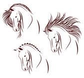 3 ló-fej készlet