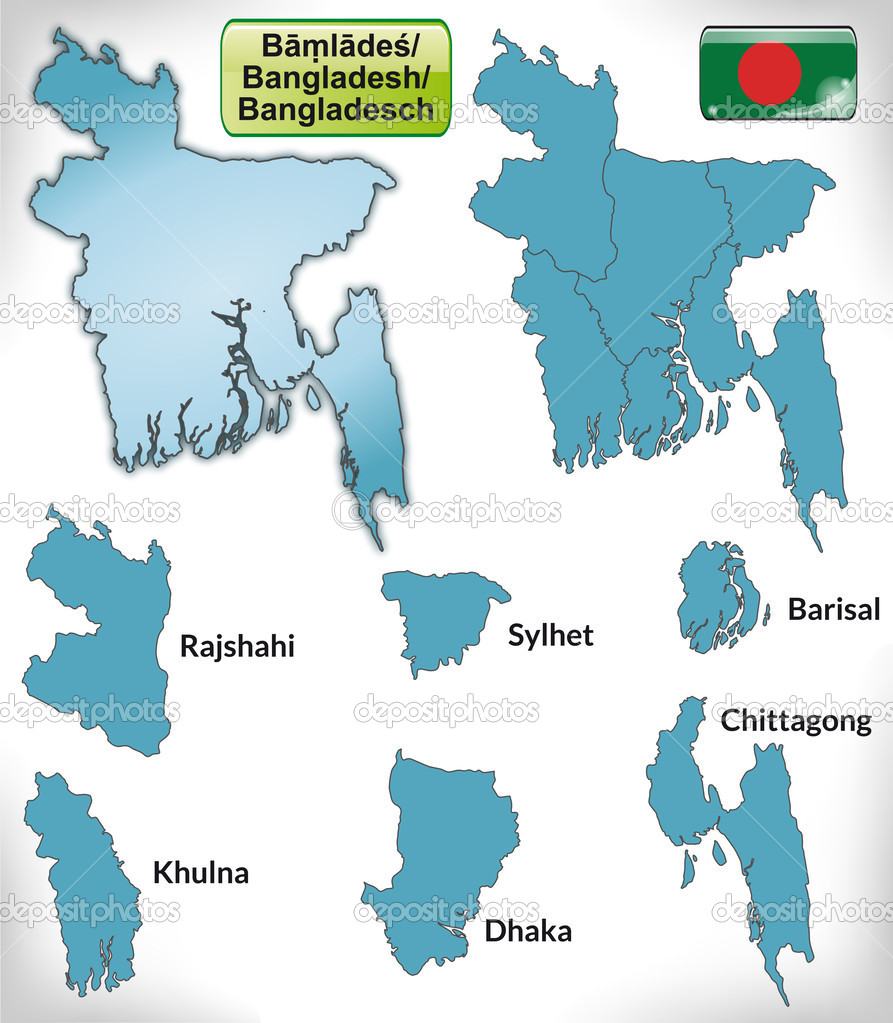 Map of bangladesh with borders in blue stock vector artalis map of bangladesh with borders in blue stock vector gumiabroncs Images