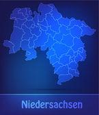 Fotografie Karte von Niedersachsen mit Rahmen als scrible