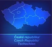 Fotografie Mapa České republiky s hranicemi jako scrible