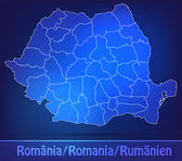 Map of Romania with borders as scrible