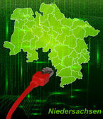 Fotografie karte von niedersachsen
