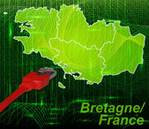 Photo Map of Brittany