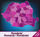 Fotografie Map of Romania