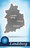 Photo Map of landsberg