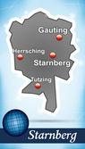 Fotografie Karte von starnberg