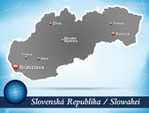 Photo Map of Slovakia