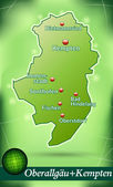 Fotografie Karte von oberallgaeu
