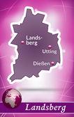 Fotografie Karte von Landsberg am Lech