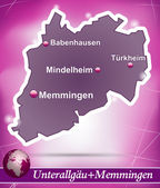 Fotografie Karte von Unterallgaeu memmingen