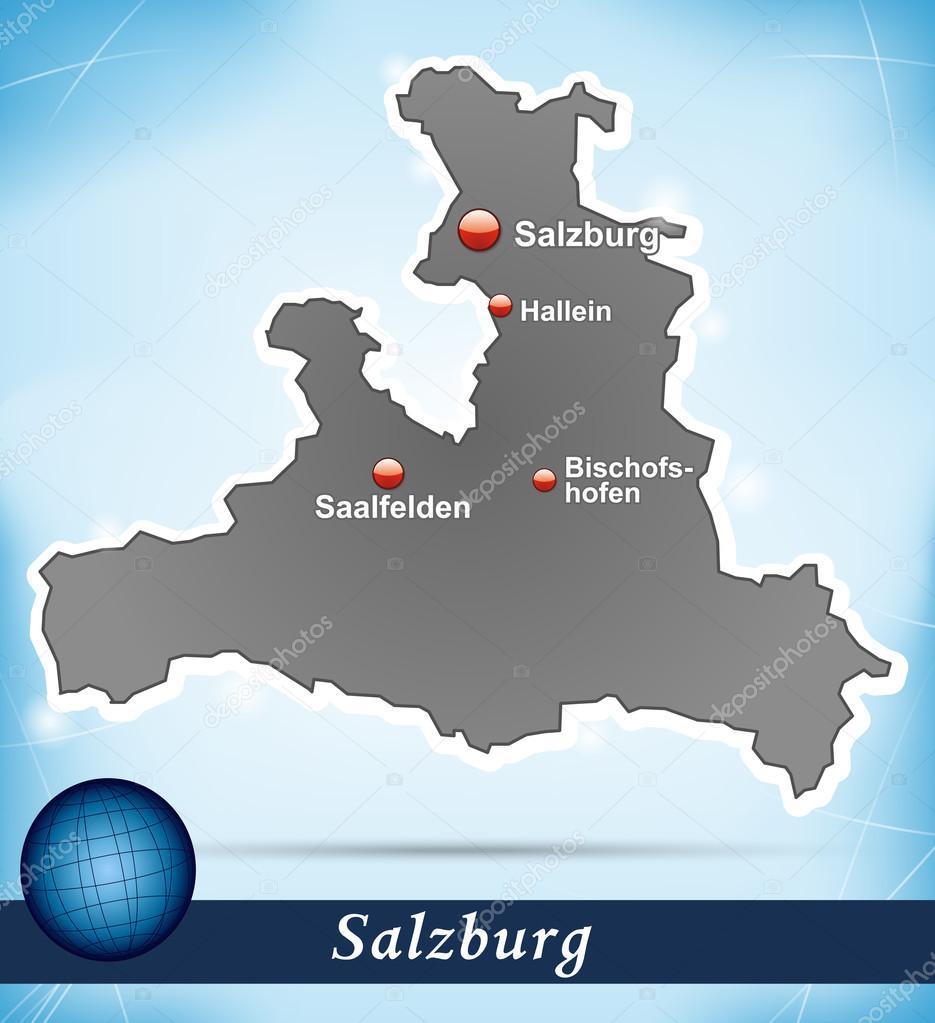 karta över salzburg karta över salzburg — Stock Vektor © artalis #39311477 karta över salzburg