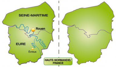 Map of Upper Normandy