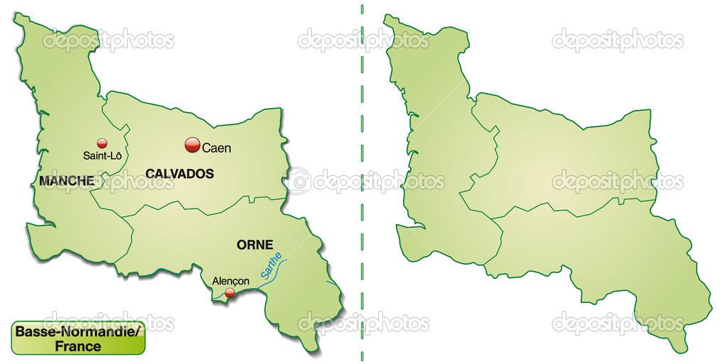 karta över frankrike normandie karta över Basse Normandie — Stock Vektor © artalis #39334149 karta över frankrike normandie
