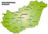 Magyaroszág térképe