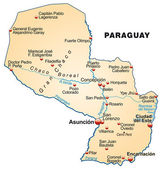 Photo Map of Paraguay