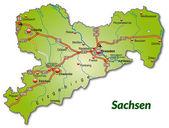 Fotografie karte von sachsen