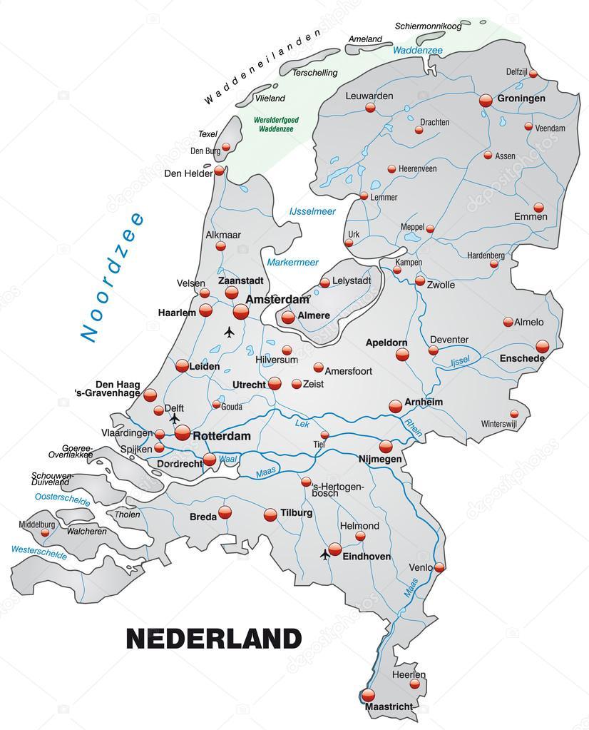 Karta Over Nederlanderna Stock Vektor C Artalis 39340935